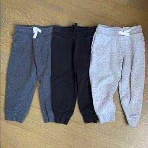 Three H&M jogger pants, size 18-24 months